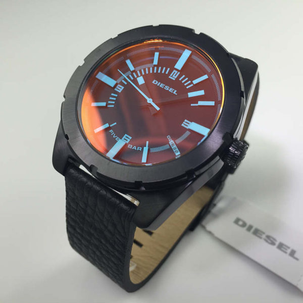 Men S Black Diesel Good Company Leather Strap Watch Dz1632 6