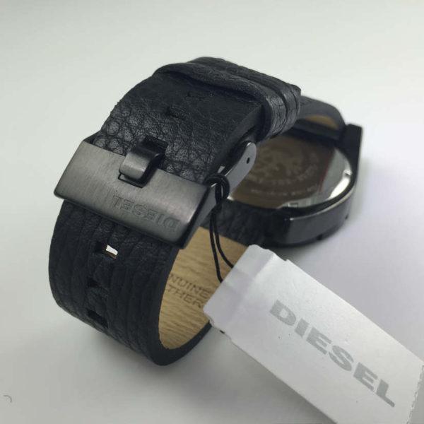 Men S Black Diesel Good Company Leather Strap Watch Dz1632 8