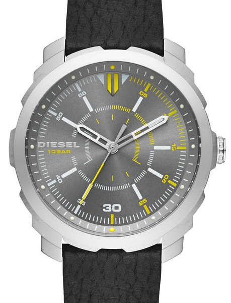 Men S Diesel Machinus Black Leather Strap Watch Dz1739 14