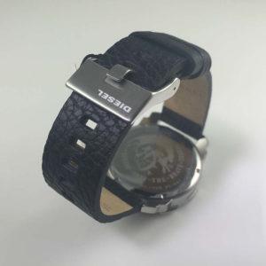 Men S Diesel Machinus Black Leather Strap Watch Dz1739 6