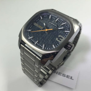 Men S Gun Metal Tone Diesel Shifter Stainless Steel Watch Dz1693 2