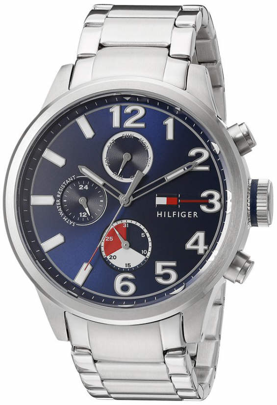 Men S Tommy Hilfiger Stainless Steel Chronograph Watch 1791242 9